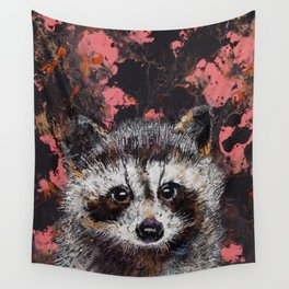 Baby Raccoon Wall Tapestry