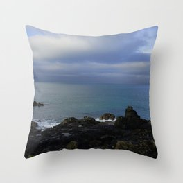 The Atlantic Ocean and Clouds in the Sky Throw Pillow