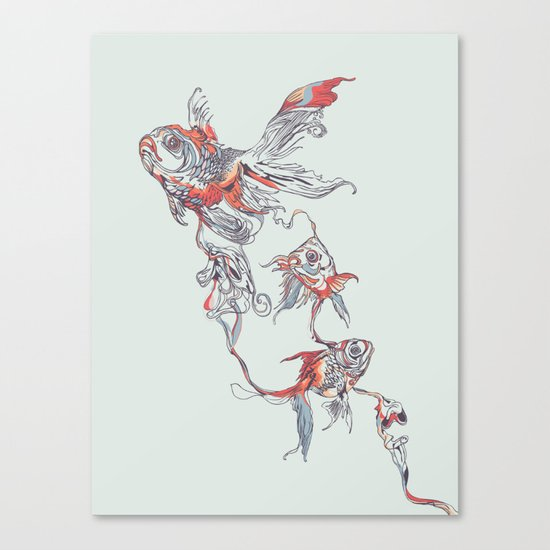 Floating in Deep Canvas Print