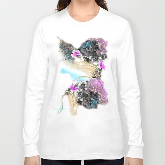 Bible Leopard With Flowers Long Sleeve T-shirt