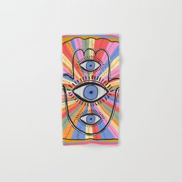 Third Eye Humsa Hand & Bath Towel