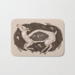 Predaceous Herbivore, Ghost Deer Bath Mat
