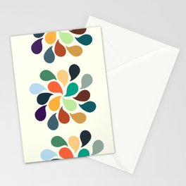 Colorful Water Drops Stationery Cards
