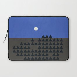 Full moon over the mountains Laptop Sleeve