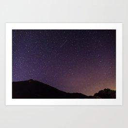 Teide by Night Skies Art Print