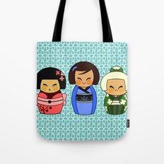 kokeshis (Japanese dolls) Tote Bag