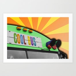 Cool Bus Art Print