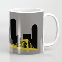 pittsburgh Mugs featuring Pittsburgh Browncoats by Caroline Moore