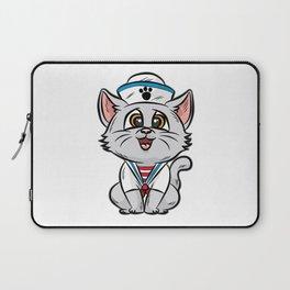 SAILOR CAT Marine Nautic Sailing Anchor Ship Boat Laptop Sleeve