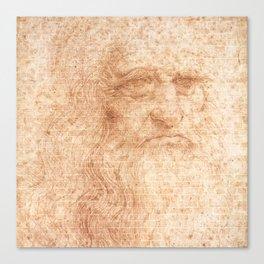 Brick Wall Painting Leonardo da Vinci by Leonardo da Vinci Urban Artist Canvas Print