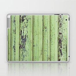 Rustic mint green grunge wood panels Laptop & iPad Skin