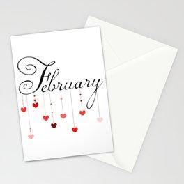 February pendants Stationery Cards