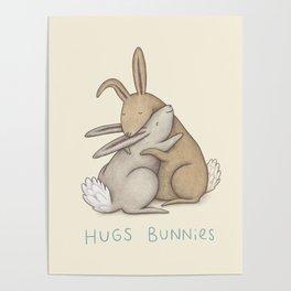 Hugs Bunnies Poster