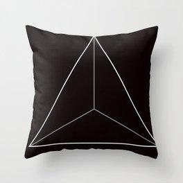 D4, Black Throw Pillow