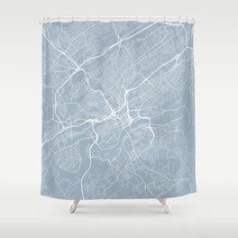 Knoxville Map, USA - Slate Shower Curtain