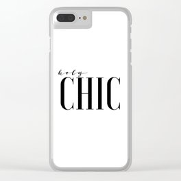 Printable Wall Art Fashion Art Fashion Girl Fashionista Holy Chic Girls Room Print Black And White Clear iPhone Case