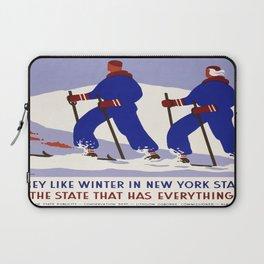 Vintage poster - New York Laptop Sleeve