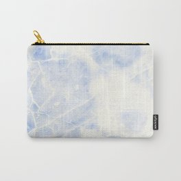 Blue and White Marble Waves Carry-All Pouch