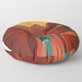 DISCOVER MARS - Valles Marineris | Space | X | Canyon | Retro | Vintage | Futurism | Sci-Fi Floor Pillow