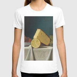 John Frederick Peto - Still Life with Cake, Lemon, Strawberries, and Glass T-shirt