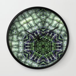 Watery Orbitals Mandala 3 Wall Clock