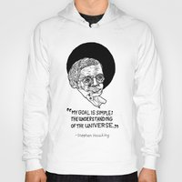 stephen king Hoodies featuring stephen hawking by Aya Rosen