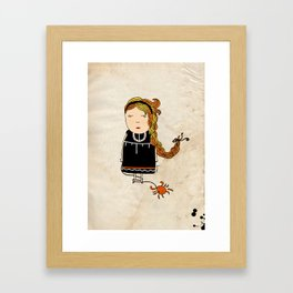 Cancer Girl  Framed Art Print