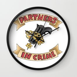 Partners in Crime Wall Clock