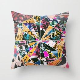 Graffiti Mosaic Throw Pillow
