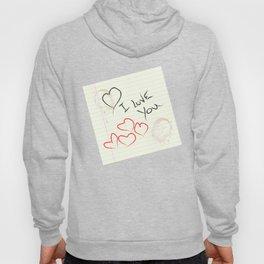 I love you doodle Hoody