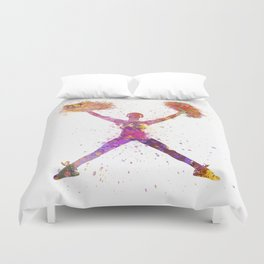 young woman cheerleader 02 Duvet Cover