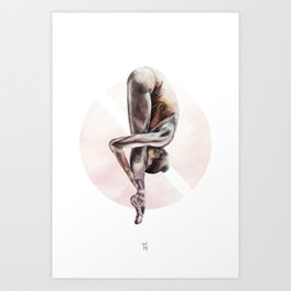 Aquarelle Ballerina 03 Art Print