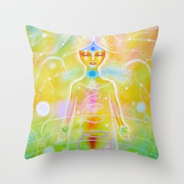 Reconnection Angel Throw Pillow