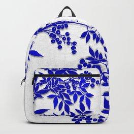 BLUE AND WHITE  TOILE LEAF Backpack