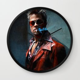 Tyler Durden Smoking A Cigarette Wall Clock