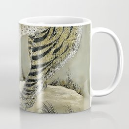 Antique Grey Tiger Minhwa Coffee Mug