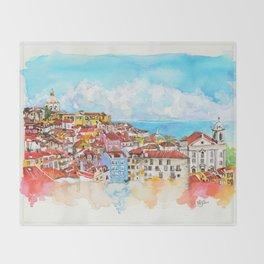 Lisbon, Portugal Throw Blanket
