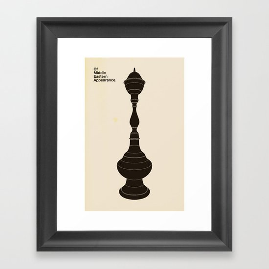 Of Middle Eastern Appearance Framed Art Print
