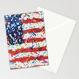 Born on the 4th of July, US Confetti Flag Stationery Cards