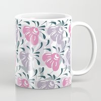 flora Mugs featuring Flora by Shelly Bremmer