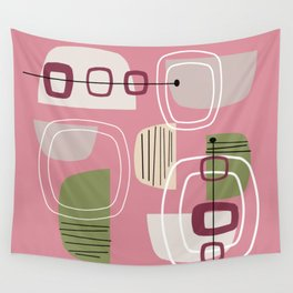 Pink Mid Century Modern Wall Tapestry