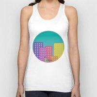 metropolis Tank Tops featuring Metropolis by Gellygen Creative