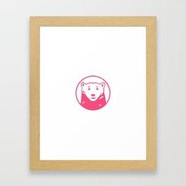 pink bear Framed Art Print