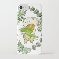 dinosaur iPhone & iPod Cases featuring Dinosaur  by MAKI