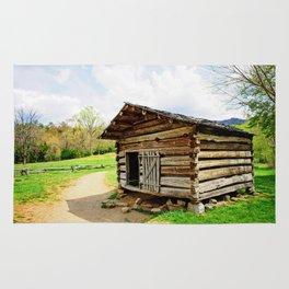 Historic Log Cabin Rug