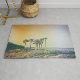 Seven Palm Trees Summer Vibes Rug
