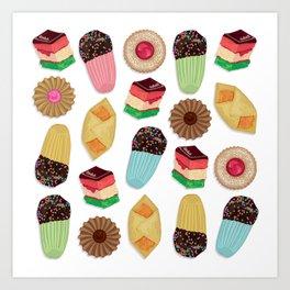 Assorted Cookie Pattern Art Print