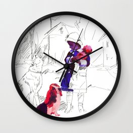 The Ghost Dog #1 Wall Clock