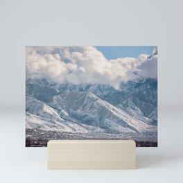 Snowstorm in Salt Lake Mini Art Print