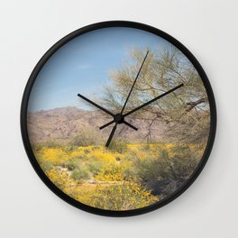 Joshua Tree Wildflowers Wall Clock